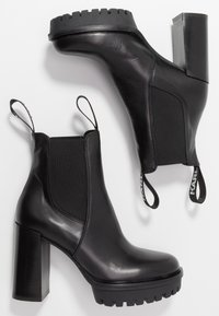 KARL LAGERFELD - VOYAGE GORE BOOT - High heeled ankle boots - black - 3