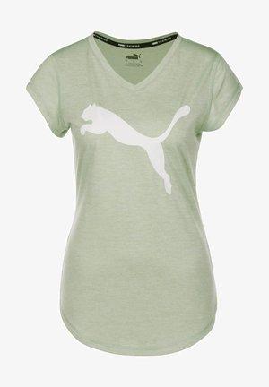 FAVOURITE HEATHER CAT  - Print T-shirt - frosty green heather