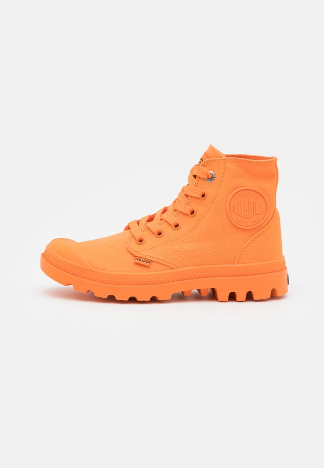 MONO CHROME - Lace-up ankle boots - bright orange