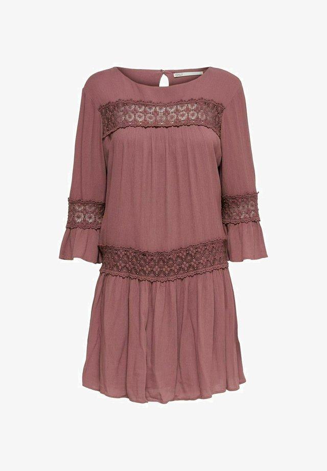 Korte jurk - rose brown