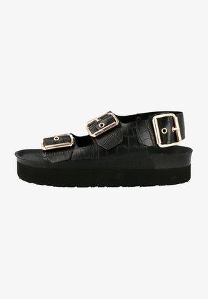 FELINA - Sandalen met plateauzool - schwarz