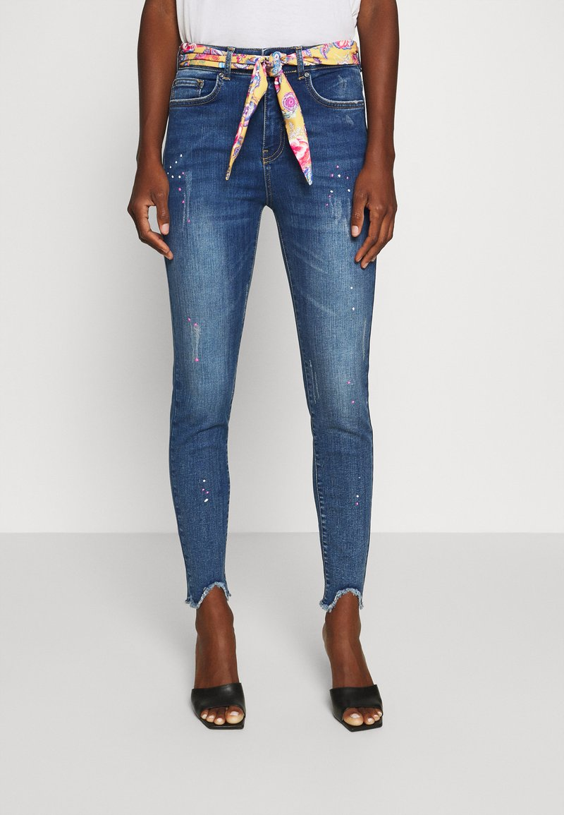 Desigual - RAINBOW - Jeansy Skinny Fit - denim dark