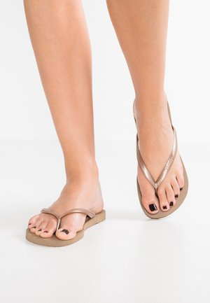 SLIM - T-bar sandals - rose gold