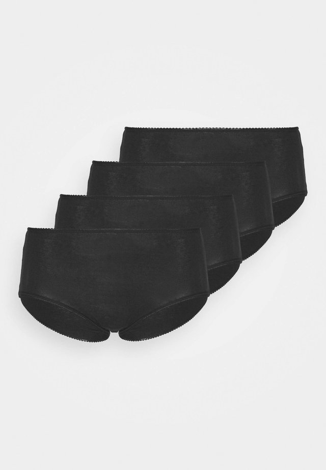 VALUE MIDI 4 PACK - Culotte - black