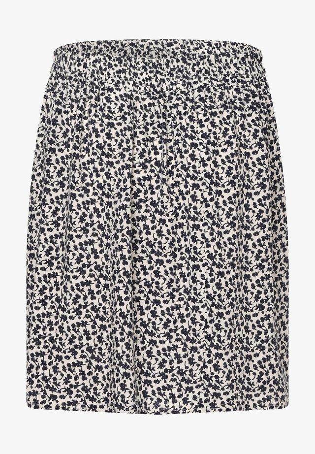 A-line skirt - weiß blau