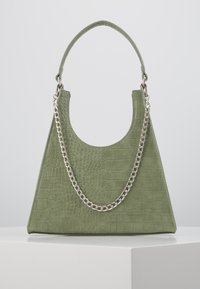 PCSTELLA CROSS BODY KEY - Handbag - dark green/silver
