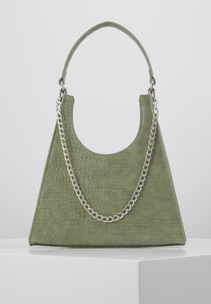 PCSTELLA CROSS BODY KEY - Borsa a mano - dark green/silver
