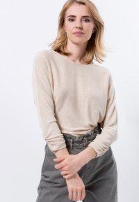 zero - Long sleeved top - cream melange - 0