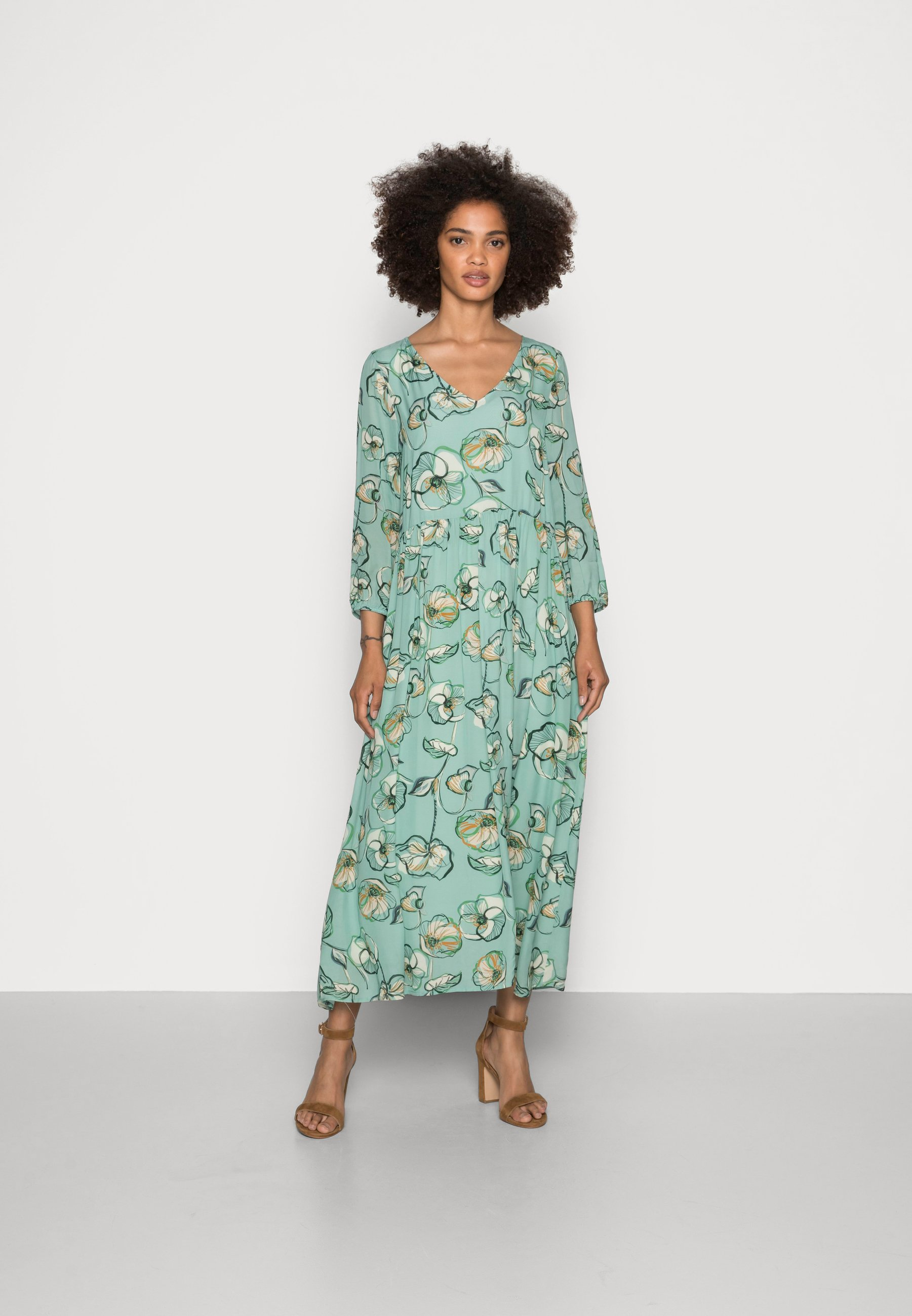 Women DRESS LONG PRINTED - Day dress