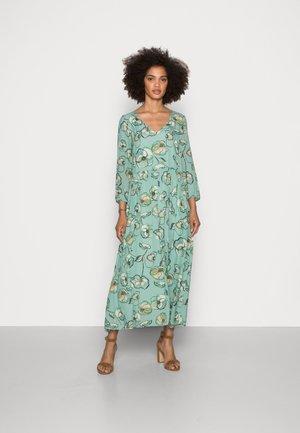 DRESS LONG PRINTED - Day dress - aqua