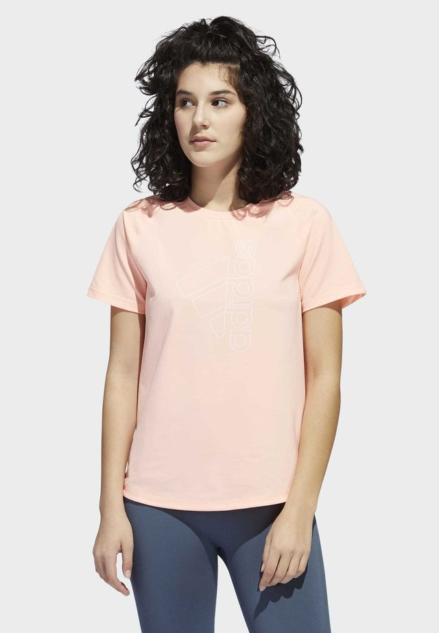 BADGE OF SPORT T-SHIRT - T-shirt imprimé - orange