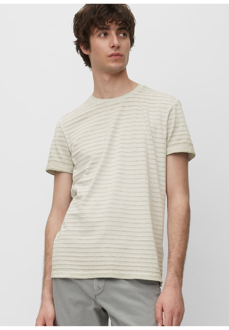 Marc O'Polo - T-SHIRT, SHORT SLEEVE, ROUND NECK, - Print T-shirt - griffin