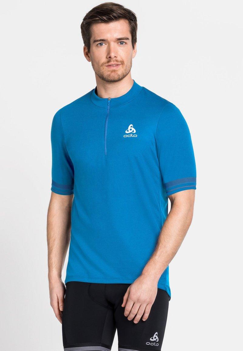 ODLO - STAND UP COLLAR ZIP ESSENTIAL - T-Shirt print - blue aster (21900)
