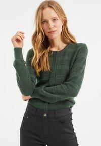 WE Fashion - Cardigan - army green - 0