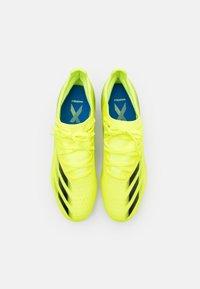 adidas Performance - X GHOSTED.3 FG - Kopačky lisovky - solar yellow/core black/royal blue - 3