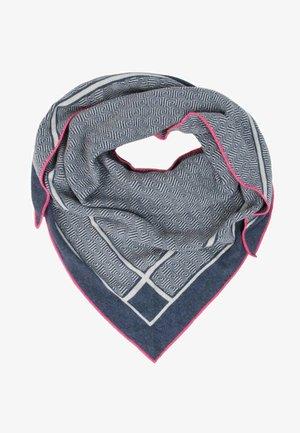 CARO DAUER - Foulard - jeansblau mit pinker kante