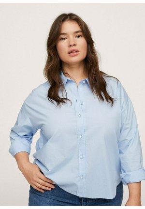 POPPY - Button-down blouse - sky blue