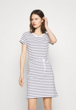 COOL SHIFT SHORT DRESS  - Robe en jersey - white/sky
