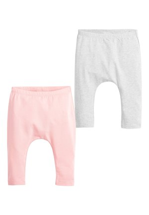 PINK/GREY 2 PACK BOW LEGGINGS (0MTHS-3YRS) - Leggings - Trousers - pink
