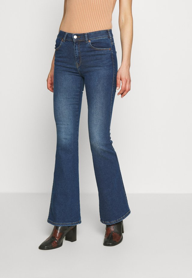 MACY - Flared jeans - westcoast dark blue