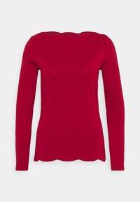 Esprit Collection - SCALLOP - Top sdlouhým rukávem - dark red - 0
