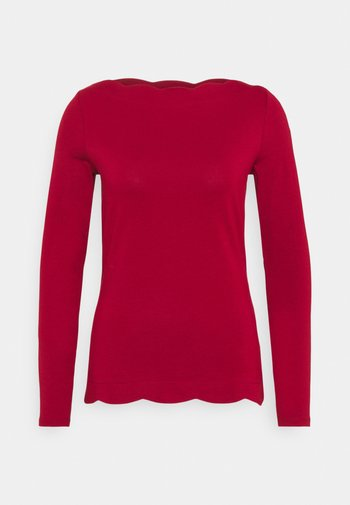 SCALLOP - Long sleeved top - dark red