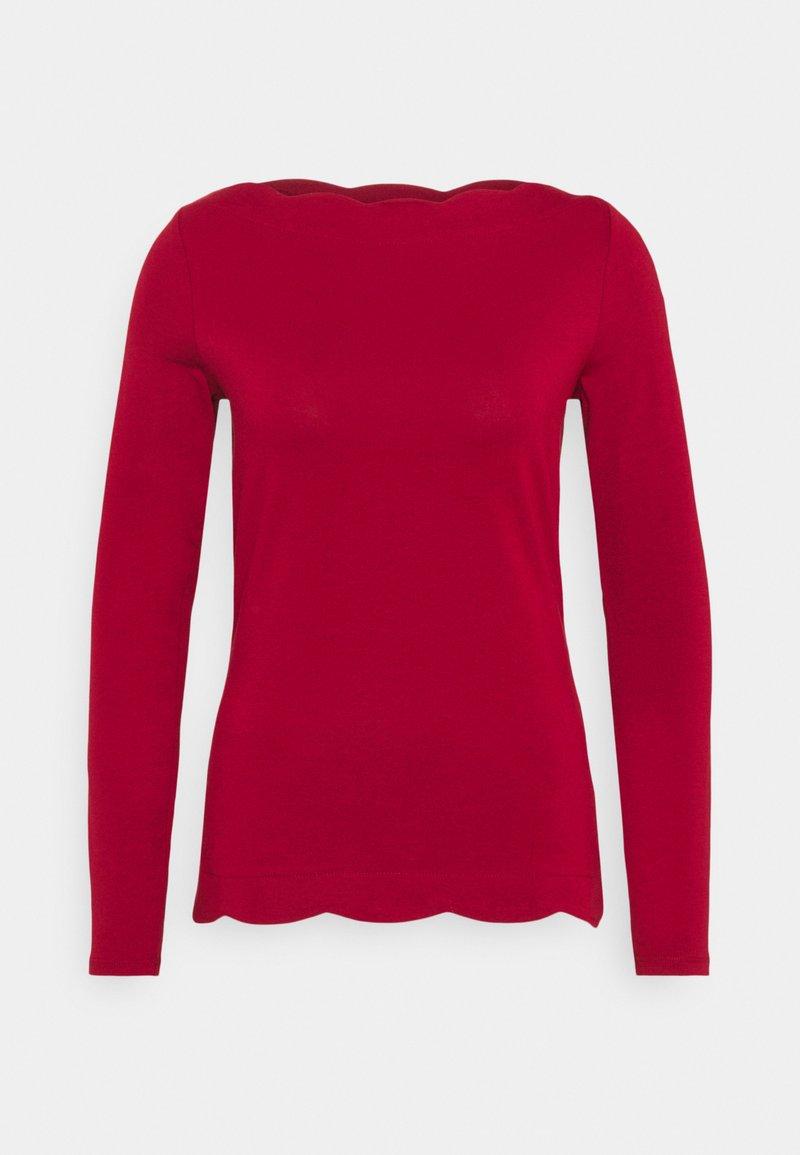 Esprit Collection - SCALLOP - Top sdlouhým rukávem - dark red