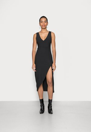 CHASE PARTY PLUNGE NECK MIDI DRESS - Cocktail dress / Party dress - black