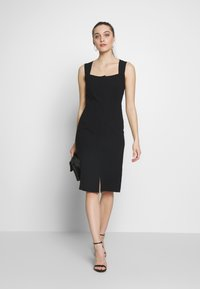 Sisley - DRESS - Shift dress - black - 1