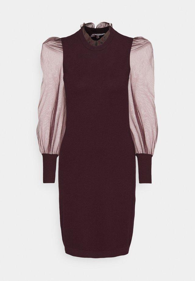 RMIBI - Gebreide jurk - aubergine