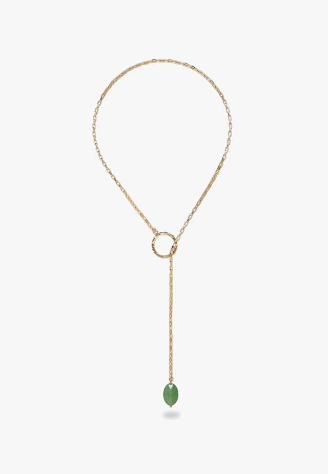 CHARA GOLD LARIAT GREEN AVENTURINE  - Collana - gold