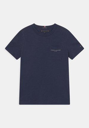 ESSENTIAL SLUB POCKET - T-shirt con stampa - twilight navy