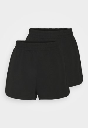 ZOE 2 PACK - Shorts - black dark/green dusty light unique