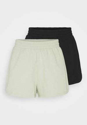 ZOE 2 PACK - Shortsit - black dark/green dusty light unique