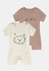 Marks & Spencer London - BABY ANIMAL 2 PACK UNISEX - Pyjama - white - 0