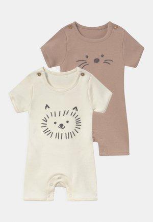 BABY ANIMAL 2 PACK UNISEX - Pyjamas - white
