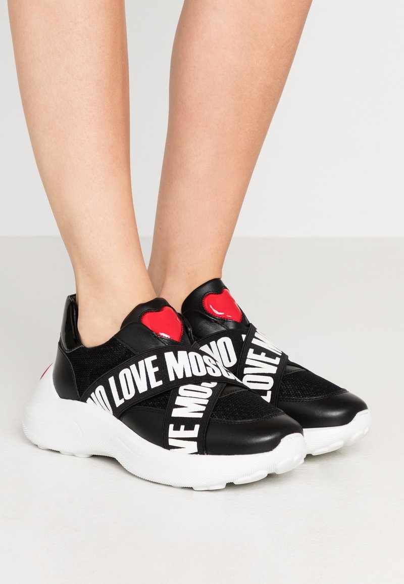 Love Moschino - SUPER HEART - Slippers - nero