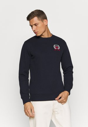 CREST C NECK - Mikina - evening blue