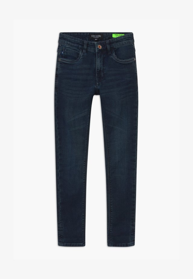 BURGO - Slim fit jeans - blue-black denim