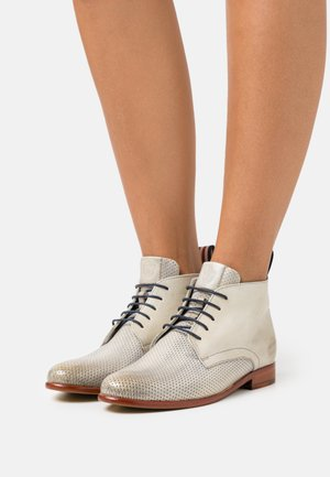 SELINA  - Lace-up ankle boots - navy/white/natural