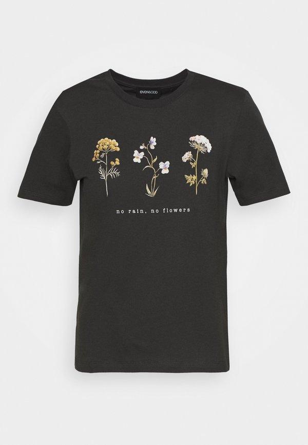 Even&Odd T-shirt z nadrukiem - anthracite Nadruk Odzież Damska FCAJ DM 5