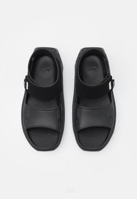 Nike Performance - PLAYSCAPE UNISEX - Pool slides - black/white/smoke grey - 3