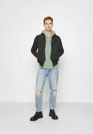 2 PACK - Bluza z kapturem - green/light blue