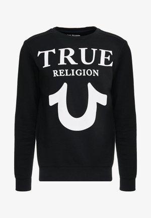 CREW LOGO PUFFY - Sweatshirt - black
