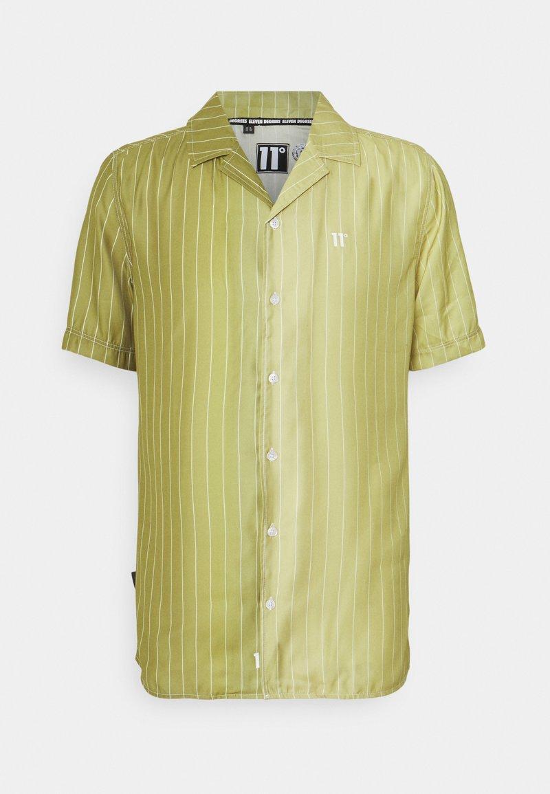 11 DEGREES - VERTICAL PINSTRIPE - Shirt - seed beige/khaki fade