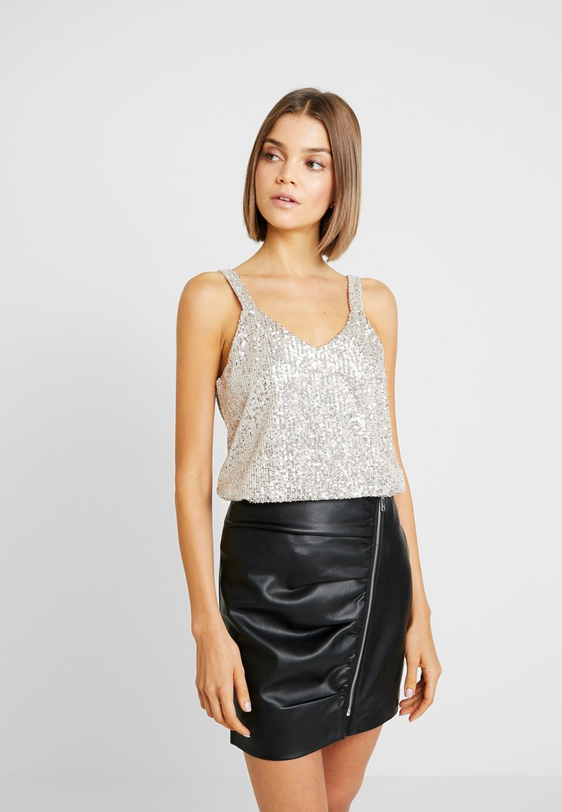 Vero Moda - VMMABEL SINGLET - Blouse - silver