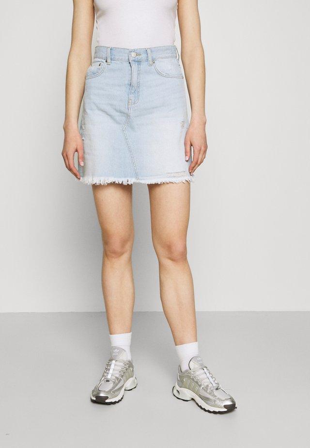 ECHO SKIRT - Mini skirt - superlight blue
