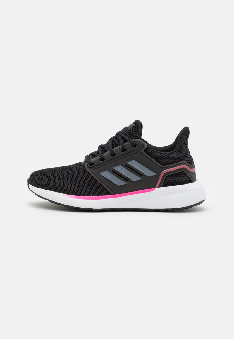 adidas Performance - EQ19 RUN - Hardloopschoenen neutraal - core black/iron metallic/screaming pink
