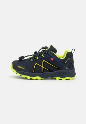 KIDS NORDLAND LOW UNISEX - Hiking shoes - navy/lime