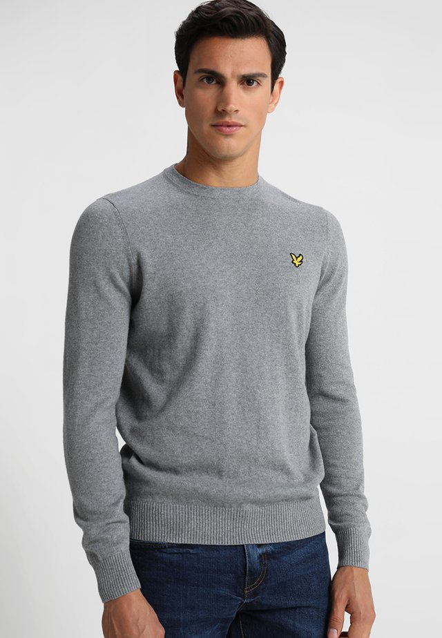 Crew Neck Jumper - Strikkegenser - mid grey marl